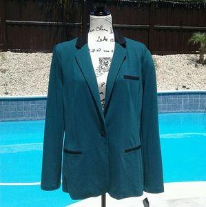 Mossimo green and black blazer